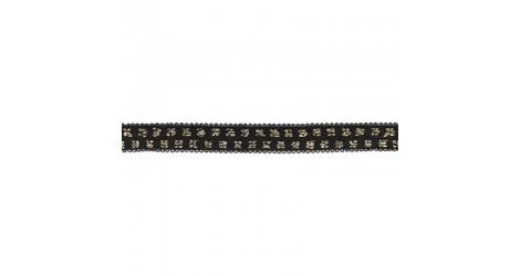 Elastique noir pois lurex doré 10mm, x10cm dans Accueil par Couture et Cie
