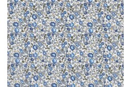 Tissu Liberty Eloise Bleu Forêt, x10cm