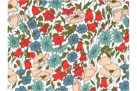 Tissu Liberty Poppy and Daisy A, x10cm