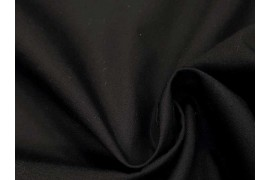 Popeline noire coton, x10cm