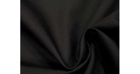 Popeline noire coton, x10cm dans Tissus unis par Couture et Cie