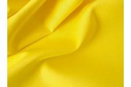 Popeline coton jaune d'or, x10cm