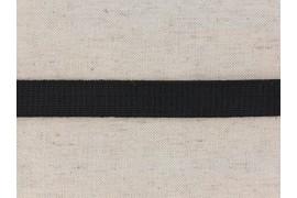 Ceinture elastique plat noir, tissé, 20 mm, x10cm