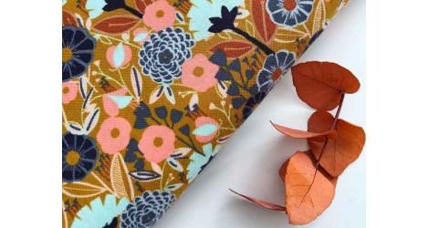 Cotton + Steel Emilia Diana moutarde, x10cm dans Accueil par Couture et Cie
