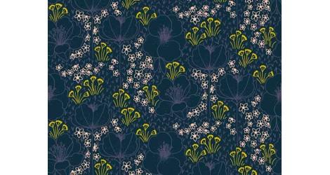 Cotton + Steel Emilia Meghan Navy, x10cm dans Tissus par Couture et Cie