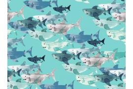 Cotton + Steel Kaikoura Shark, x10cm