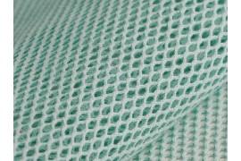 Tissu Filet coton bio bleu azur, x10cm