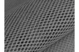 Tissu Filet coton bio gris, x10cm