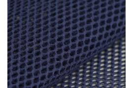 Tissu Filet Mesh coton bio bleu marine, x10cm