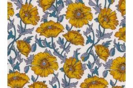Tissu Liberty Astell Reece jaune, x10cm