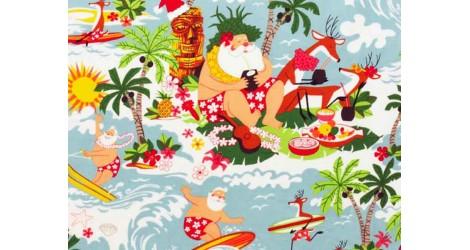 Alexander Henry Surfin' Christmas, x10cm dans Accueil par Couture et Cie