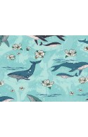 Tissu Art Gallery Fabrics Enchanted Voyage, baleine, x10cm