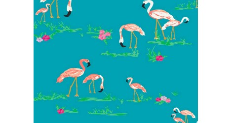 Tissu Art Gallery Fabrics Flamants roses x10cm dans ART GALLERY FABRICS par Couture et Cie