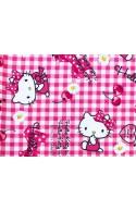 Tissu Hello Kitty cherry rose, x10cm