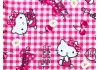 Tissu Hello Kitty cherry rose, x10cm dans Tissus Enfantins par Couture et Cie