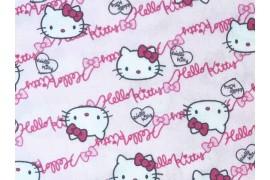 tissu Hello Kitty Oxford rose, x10cm