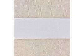 Elastique cotelé 35mm blanc, x10cm