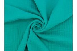 Double gaze gaufrée vert émeraude, x10cm