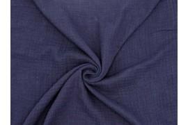 Double gaze coton bleu nuit, x10cm