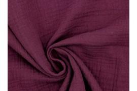 Double gaze coton purple, x10cm