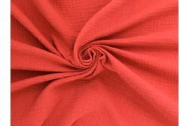 Tissu double gaze coton corail, x10cm
