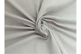 Double gaze gaufrée gris clair, x10cm dans Double gaze par Couture et Cie