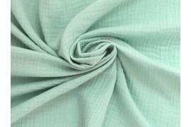 Double gaze gaufrée vert menthe, x10cm dans Double gaze par Couture et Cie