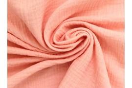 Double gaze gaufrée rose blush, x10cm dans Double gaze par Couture et Cie
