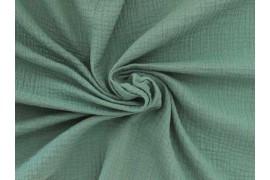 Double gaze coton vert eucalyptus, x10cm
