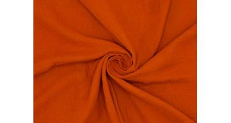 Double gaze coton rouille, x10cm