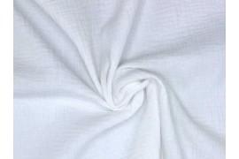 Tissu double gaze coton blanc optique, x10cm