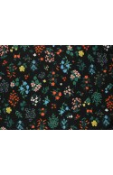 Tissu Rifle Paper Strawberry Fields noir petites fleurs, x10cm