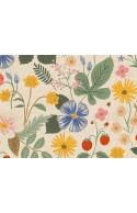 Tissu Canvas Rifle Paper Strawberry Fields, x10cm
