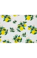 Tissu Rifle Paper Primavera Citrus Blossom Lemon metallic, x10cm