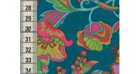 Liberty Poppyseed Dreams turquoise dans Tissus LIBERTY OF LONDON par Couture et Cie