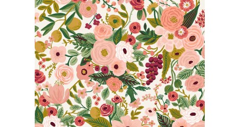 Tissu Rifle Paper Garden Party petite rose, x10cm dans Rifle Paper Co par Couture et Cie