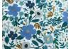 Tissu Rifle Paper Garden Party Wild rose bleu metallic, x10cm dans Rifle Paper Co par Couture et Cie