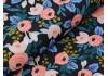 Tissu Canvas Rifle Paper Garden Party Rosa-black , x10cm