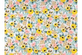 Tissu Rifle Paper Primavera Rosa crème, x10cm