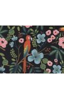 Tissu Rifle Paper Menagerie Paradise Garden noir, x10cm