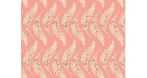 Tissu Art Gallery Fabrics Homebody plumes fond rose, x10cm