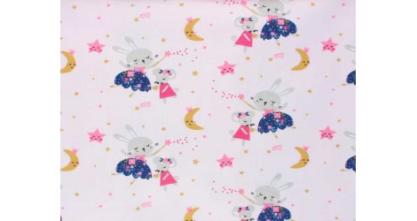 Jersey La Fée rose, x10cm dans Tissus par Couture et Cie