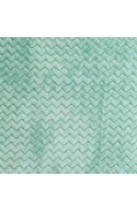 Tissu Minky Wave vert menthe, x10cm