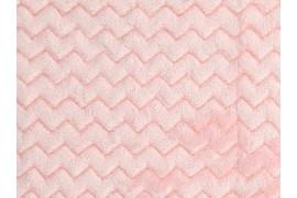 Tissu Minky Wave rose layette, x10cm