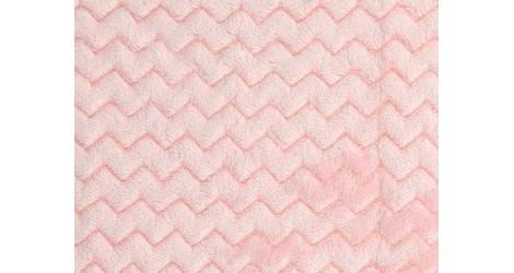 Tissu Minky Wave rose layette, x10cm dans Teddydou / Minky par Couture et Cie