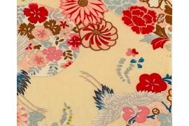 Tissu Japonais Kokka Japanese Modern grue écru, x10cm