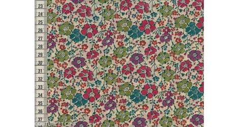 Tissu Liberty Clarisse rose et vert dans Tissus LIBERTY OF LONDON par Couture et Cie
