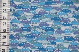 Tissu Liberty cars bleu