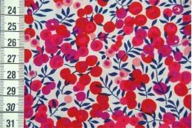 Liberty Wiltshire rouge et bleu