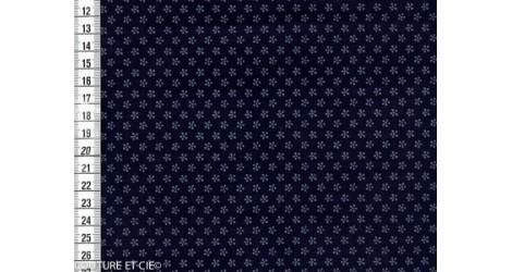 Imprimé fleur sur fond indigo, coupon 65cm*110cm dans TISSUS JAPONAIS par Couture et Cie